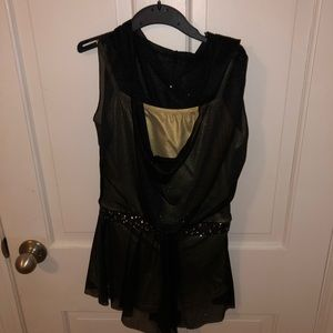 Revolution Gold and Black Hooded Mesh Costume